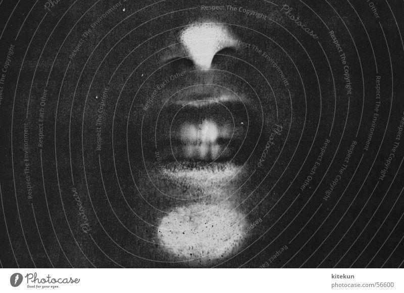 die allerfeinste kopiermanier - seconde Fotokopierer schwarz weiß grau schreien gefangen Fenster dunkel gruselig erstaunt Nase lustig Angst Zähne