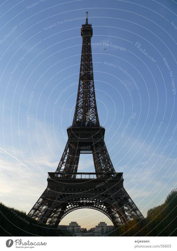 Je t'aime Tour d'Eiffel Paris Frankreich Dämmerung Funkturm Himmel