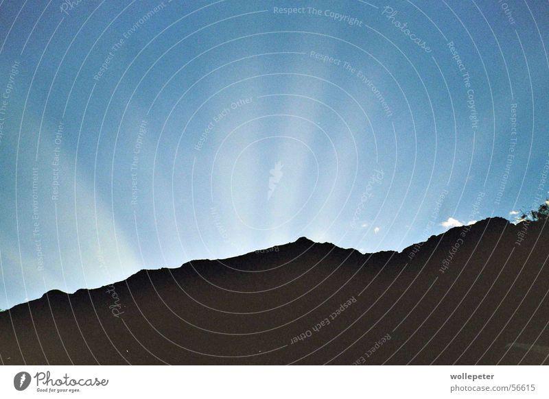 strahlend Blau Himmel Sonne blau Beleuchtung Südafrika Lichtstrahl Kapstadt