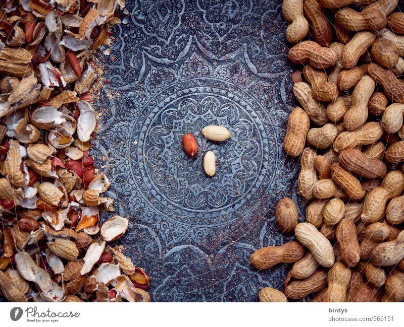 Ordnungsliebe in der Nussschale Erdnuss Schalen & Schüsseln ästhetisch exotisch lecker positiv rund schön genießen Mittelpunkt Kerne Muster Ornament Knabbereien
