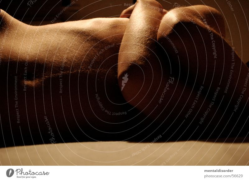 belly and arm II Frau Hand Erotik nackt Beine braun Haut Arme Bett liegen Brust Dame Bauch Glamour Torso
