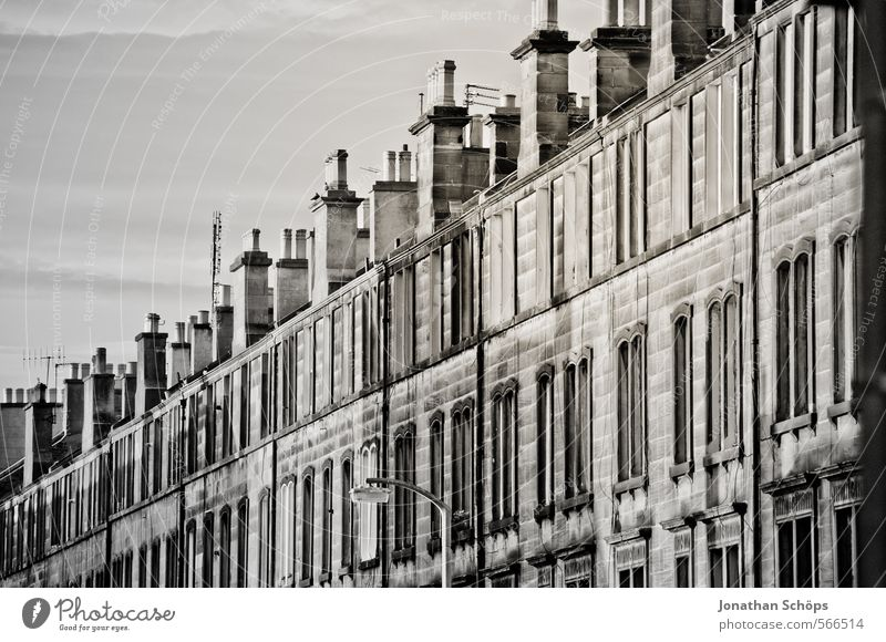 Edinburgh XII Stadt Haus Wand Straße Architektur Gebäude Mauer Fassade Häusliches Leben ästhetisch Neigung viele Bauwerk Skyline Reihe Hauptstadt