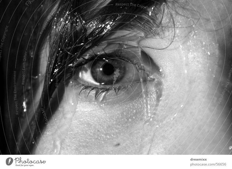 Starre Frau Wasser ruhig Auge Haare & Frisuren träumen Lied Unter der Dusche (Aktivität) Gesicht