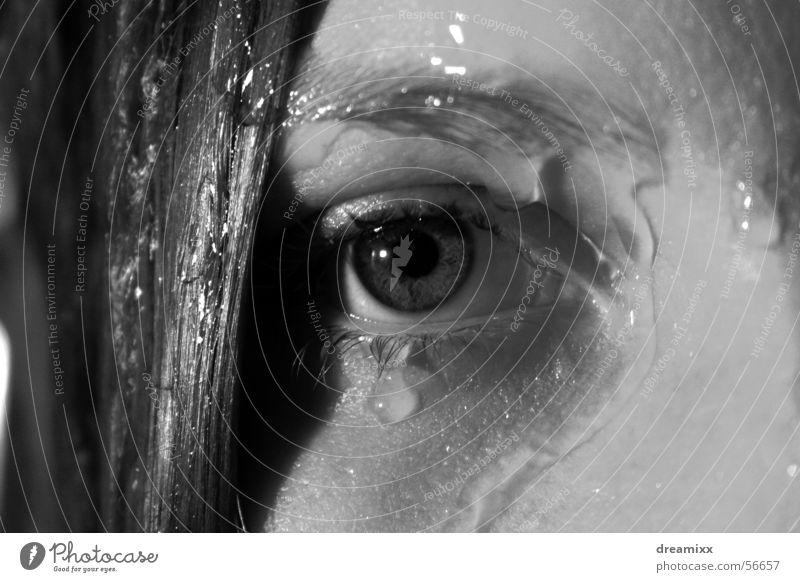 Träne Frau Wasser ruhig Auge Haare & Frisuren Traurigkeit träumen Trauer Tränen Lied Unter der Dusche (Aktivität)