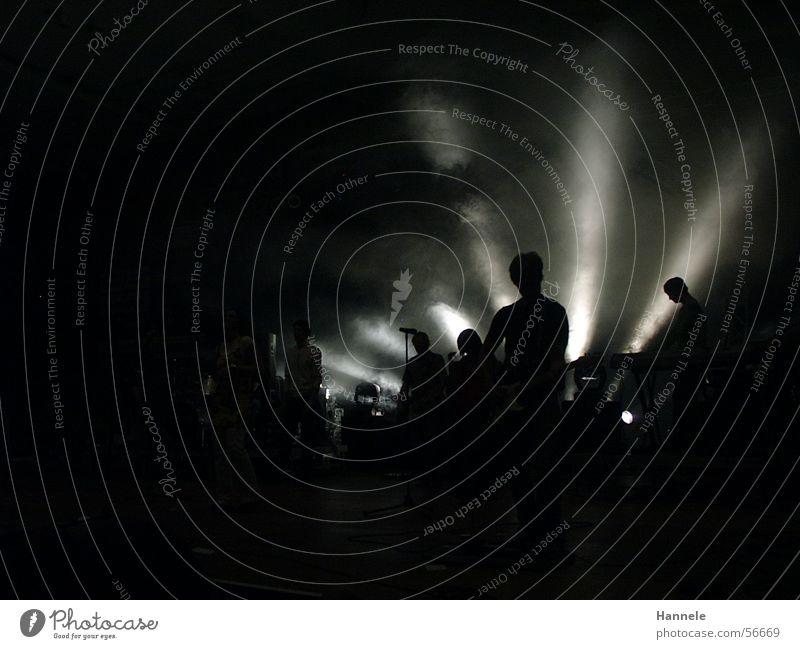 Atmosphäre dunkel Stimmung Nebel Show Konzert Schnur Lichtstrahl