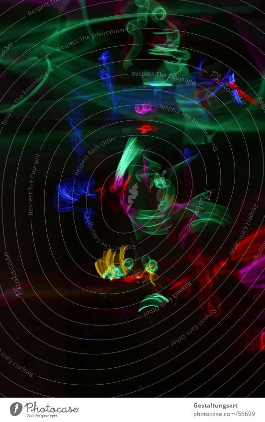 Kindergeburtstag (4/5) blau schön grün Farbe rot Freude schwarz gelb Leben Lampe springen Kunst Tanzen Wildtier Flügel Kreativität