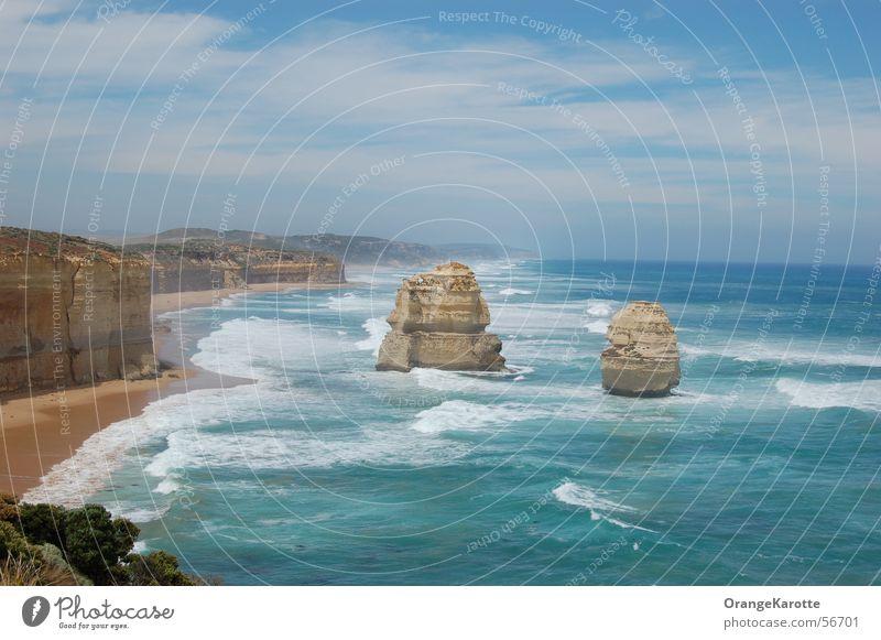 12 Apostles Himmel Meer Ferien & Urlaub & Reisen Freiheit Horizont Felsen Australien Brandung unterwegs Twelve Apostles