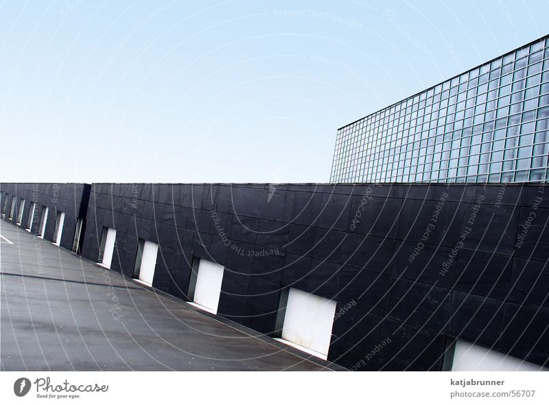 Die andere Perspektive Himmel Mauer Linie Glas Straßburg Europa Parlament