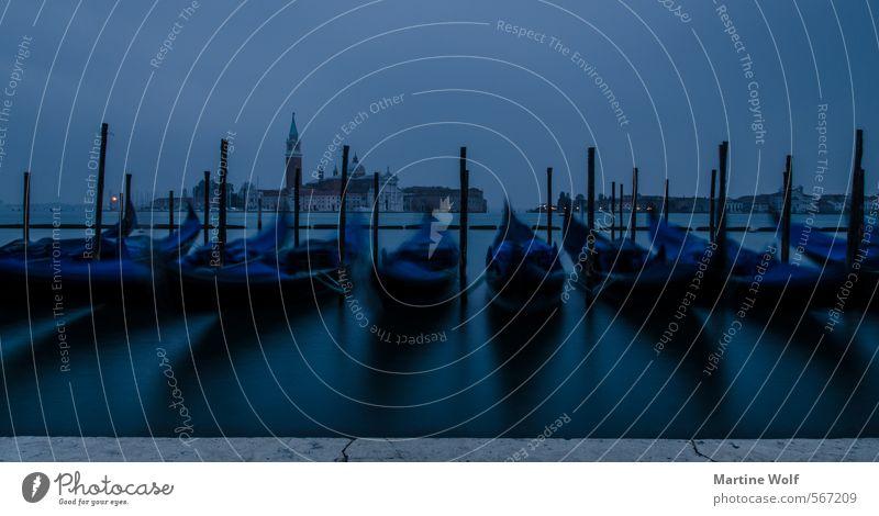 Gondolin und Gondolon Venedig Italien Europa Dorf Stadt Stadtzentrum Wahrzeichen Gondel (Boot) Ferien & Urlaub & Reisen ruhig Isola di San Giorgio Maggiore