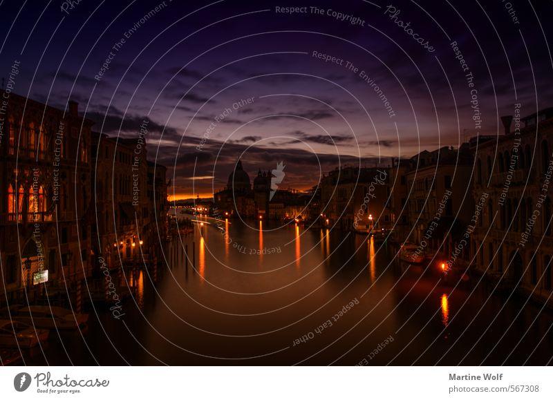 venezianischer Morgen Sonnenaufgang Sonnenuntergang Venedig Italien Europa Dorf Stadt Menschenleer Haus Ferien & Urlaub & Reisen Academia-Brücke aufwachen