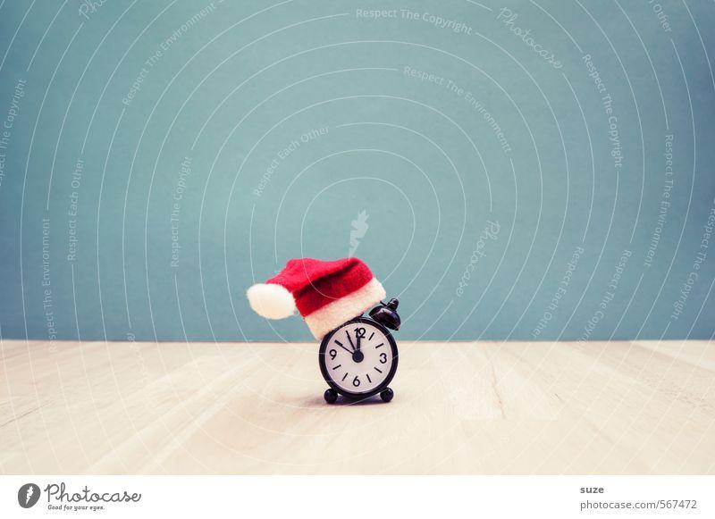 *Weihnachts-Ticker* Weihnachten & Advent rot lustig Stil Zeit Feste & Feiern Uhr Design Dekoration & Verzierung Dinge Zifferblatt Kreativität planen Idee Zeichen Geschenk