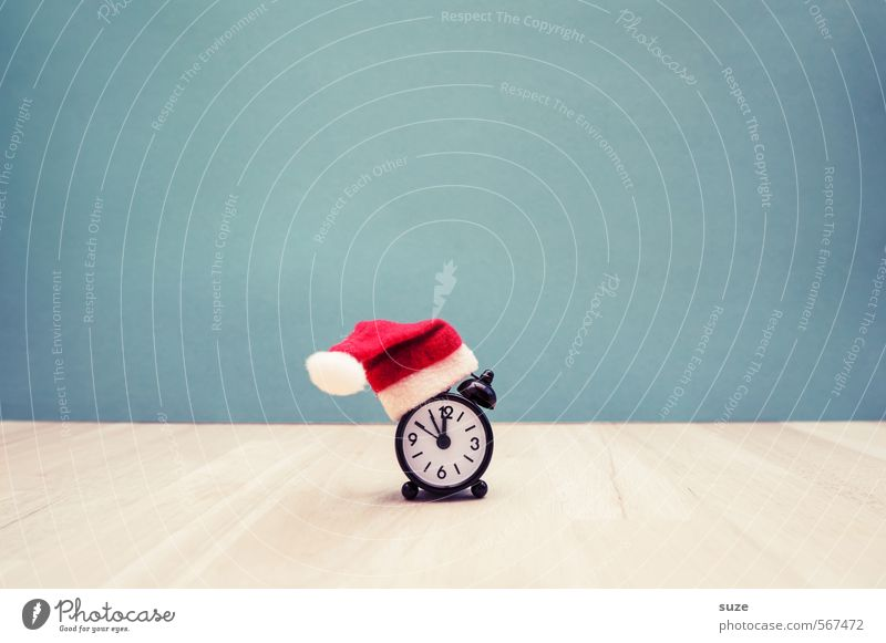*Weihnachts-Ticker* Weihnachten & Advent rot lustig Stil Zeit Feste & Feiern Uhr Design Dekoration & Verzierung Dinge Zifferblatt Kreativität planen Idee