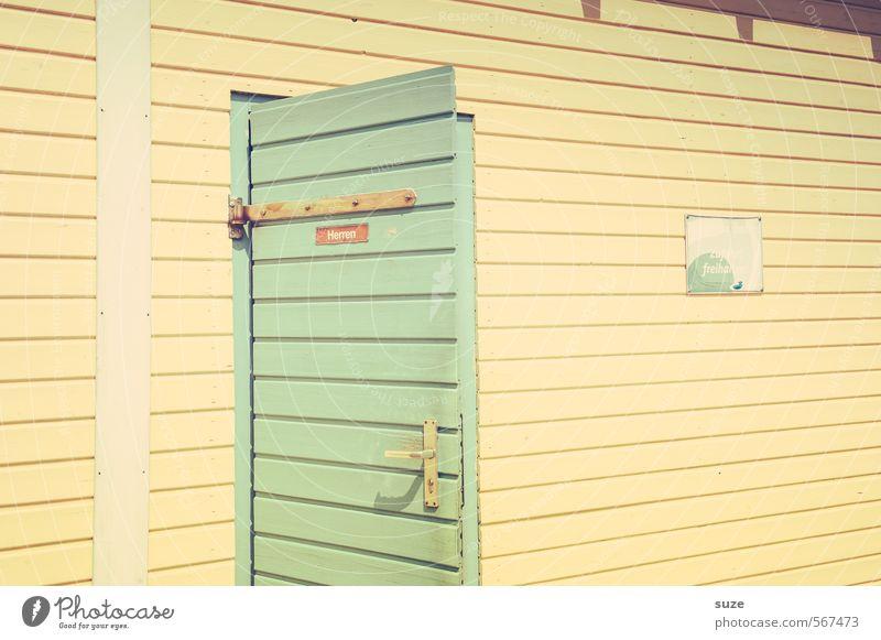 Das 7te Türchen für die Herren Lifestyle Design Freizeit & Hobby Ferien & Urlaub & Reisen Hütte Fassade Holz authentisch eckig einfach hell gelb türkis