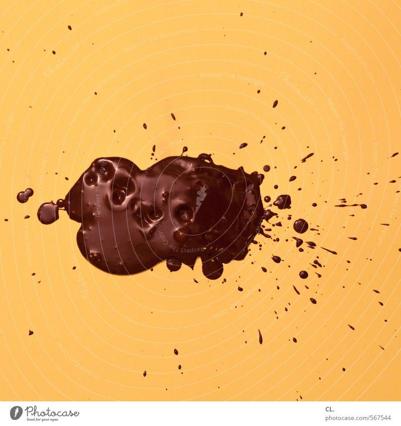 studio braun Freude gelb Bewegung Essen Lebensmittel ästhetisch Ernährung genießen süß Kreativität Lebensfreude Süßwaren lecker Schokolade spritzen
