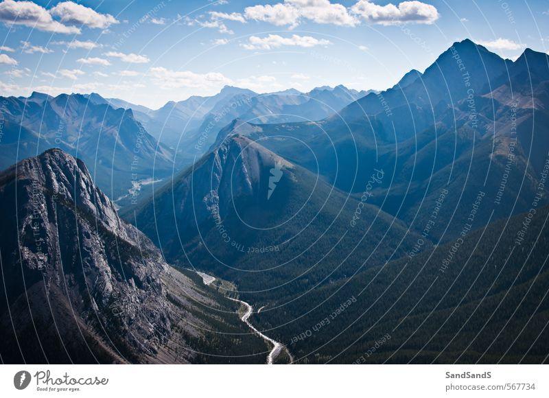 Natur Landschaft Ferne Berge u. Gebirge Felsen Idylle Hügel Ziel Rocky Mountains