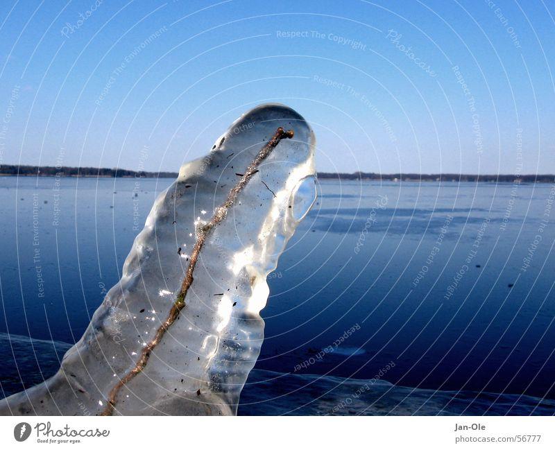 Eisiger Mantel kalt See Frost Schnellzug Hülle Eiszapfen