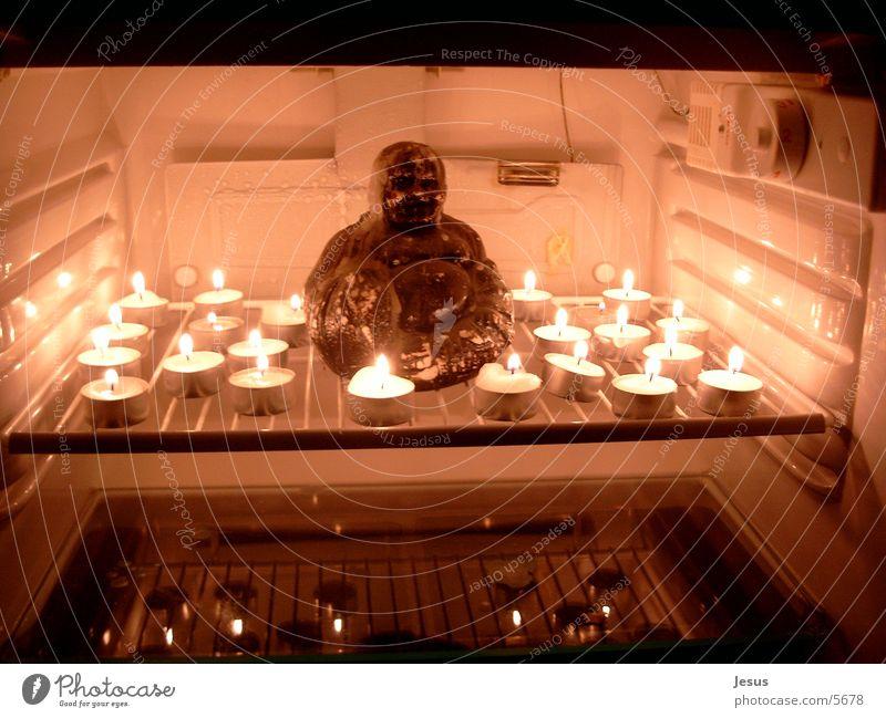 Inner Peace Mensch Kerze Frieden Buddhismus Buddha Kühlschrank