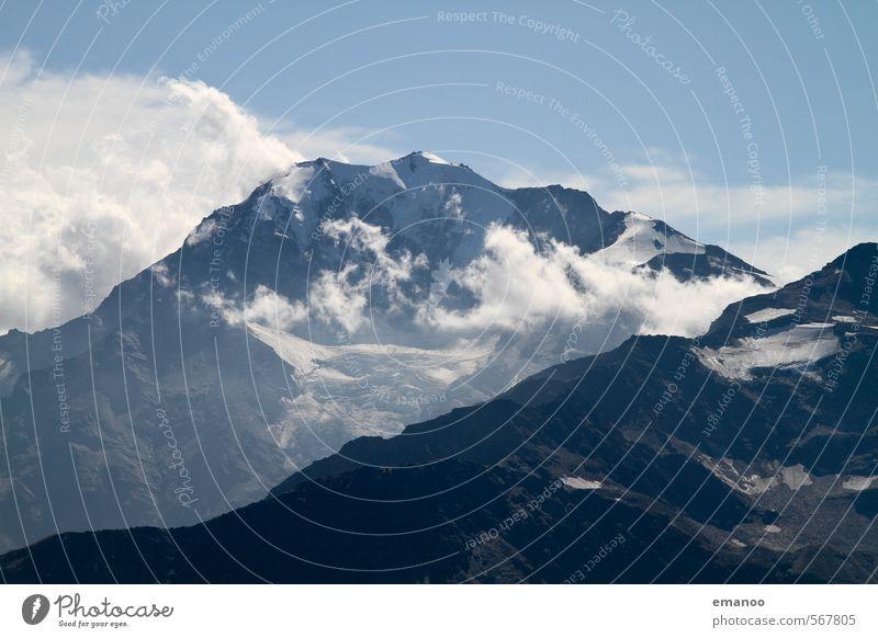 simply simplon Himmel Natur Ferien & Urlaub & Reisen blau Landschaft Wolken Ferne kalt Berge u. Gebirge Schnee Freiheit Felsen Luft Eis Wetter Klima