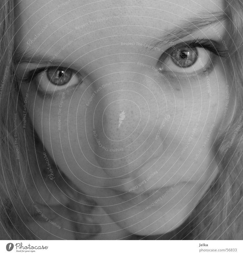 plinker, plinker! Gesicht Mädchen Frau Erwachsene Auge Nase Mund blond woman madchen hesichter face faces ugenblick eye eyes nose mouth Nahaufnahme Blick
