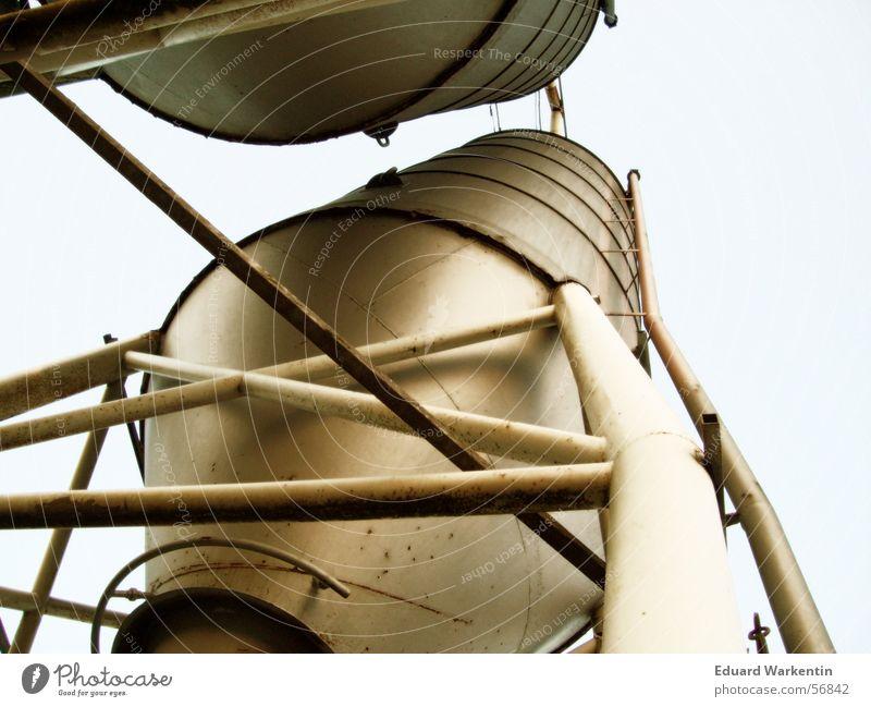 Silos II Industriefotografie Stahl Rost Eisen Silo aufbewahren Industrielandschaft