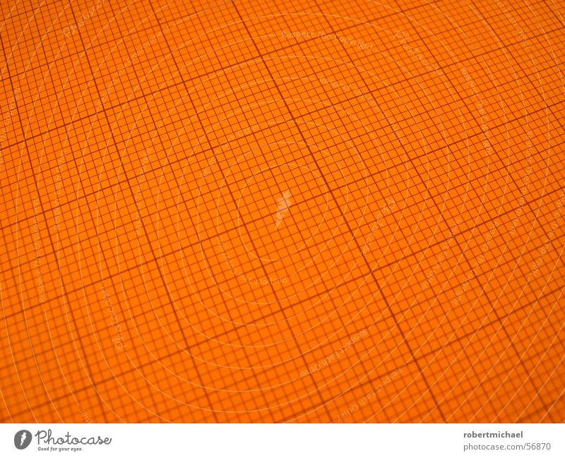 Rasterfahndung 1 Linie Hintergrundbild orange leer Perspektive planen Dinge Textfreiraum Quadrat parallel Geometrie vertikal Oberfläche Symmetrie Entwurf Anordnung