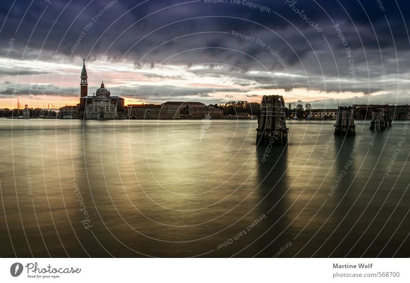 Isola di San Giorgio Maggiore II Wasser Insel Venedig Italien Europa Dorf Stadt Menschenleer Ferien & Urlaub & Reisen ruhig Farbfoto Außenaufnahme