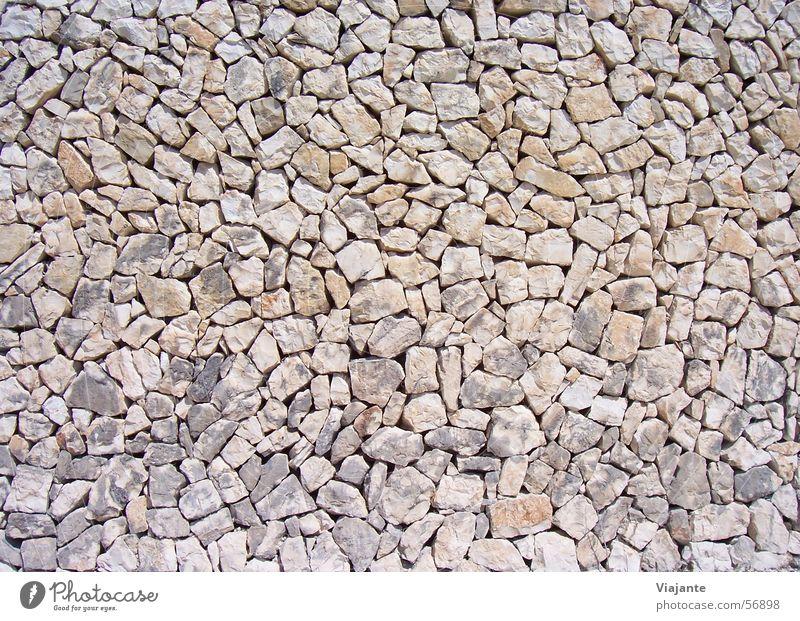 vermauerter Blick Mauer Wand Hintergrundbild Strukturen & Formen Naturstein rustikal ruhig braun beige Muster Stein stone stones background image texture