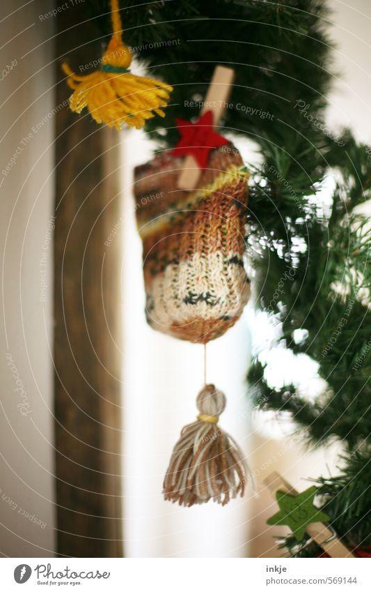 selbstgestrickte Adventskalenderwichtelmütze (14) schön Weihnachten & Advent Freude Gefühle klein oben Stimmung Freizeit & Hobby Häusliches Leben Kindheit