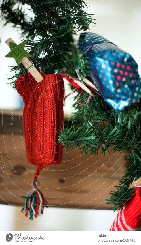 noch 9 Tage (13) Lifestyle Stil Freude Freizeit & Hobby Handarbeit stricken Häusliches Leben Dekoration & Verzierung Weihnachten & Advent Tannenzweig Mütze