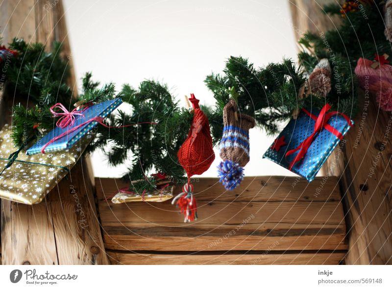 Adventskalender (oldschool handmade) schön Weihnachten & Advent Freude Gefühle außergewöhnlich Freizeit & Hobby Häusliches Leben Kindheit Lifestyle Dekoration & Verzierung hoch einzigartig Geschenk Neugier Wunsch hängen