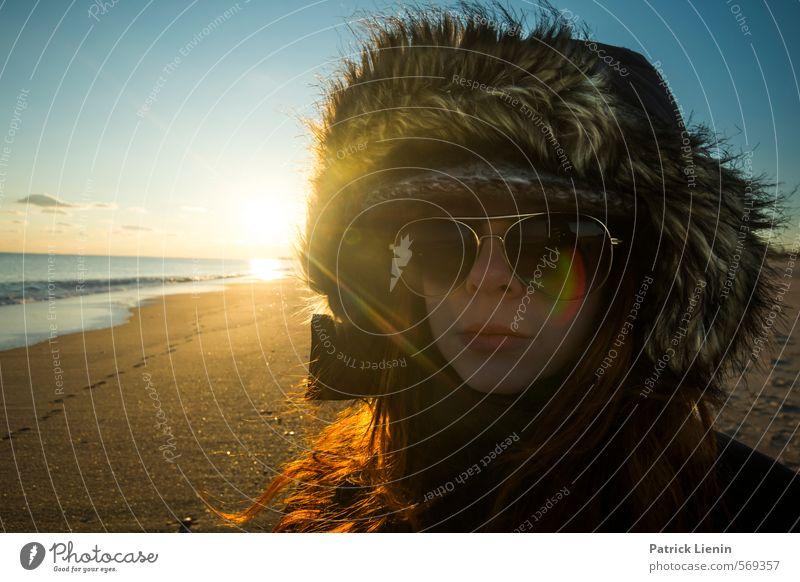 Today Mensch Frau Himmel Natur schön Pflanze Sommer Sonne Einsamkeit Strand Winter Erwachsene Umwelt Leben feminin Küste