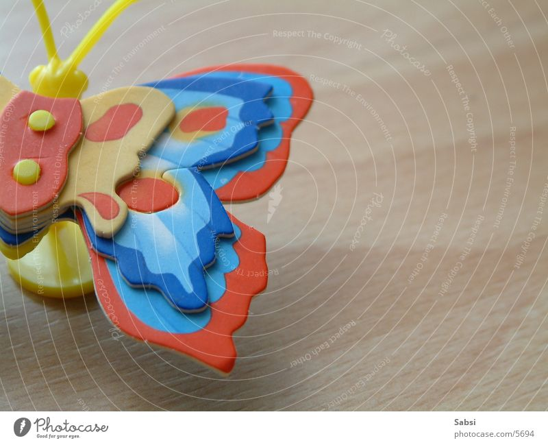butterfly Schmetterling Holz mehrfarbig Spielzeug
