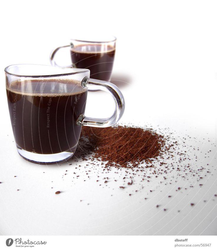 Kaffee Loop weiß Glas Design Perspektive Schwung zerkleinern Produkt gemahlen