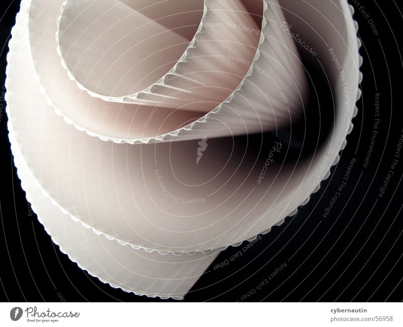 gerollte Pappe weiß rosa Papier Karton Furche Spirale Oval