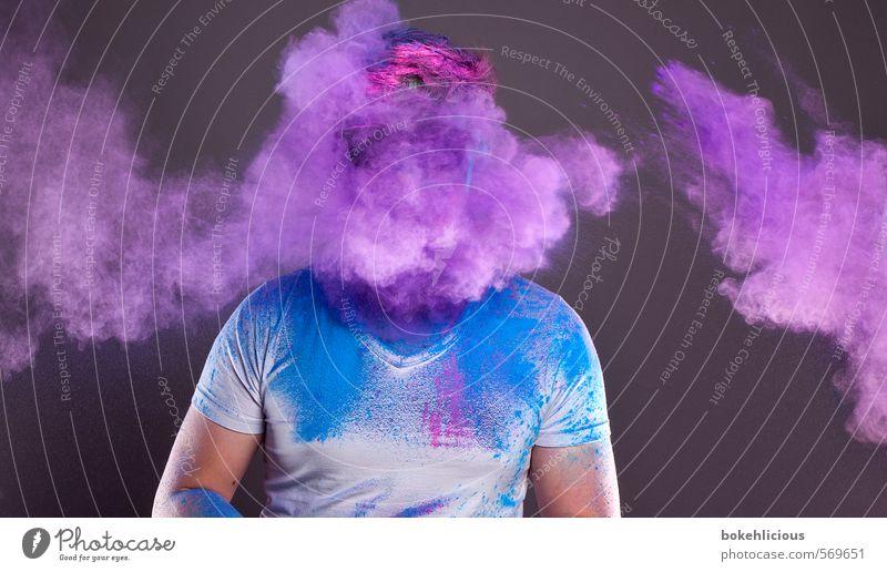 In Your Face Abenteuer Entertainment Feste & Feiern Mensch maskulin Junger Mann Jugendliche Kopf Gesicht Brust 1 18-30 Jahre Erwachsene Haare & Frisuren atmen