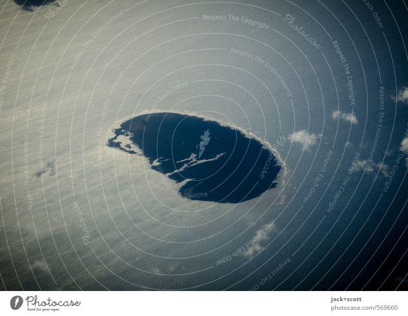 small Island Ferien & Urlaub & Reisen Ferne Natur Wolken Klima Wind Küste Pazifik Insel unten Umwelt Strömung luftig Halbkreis Unbewohnt unberührt Gezeiten