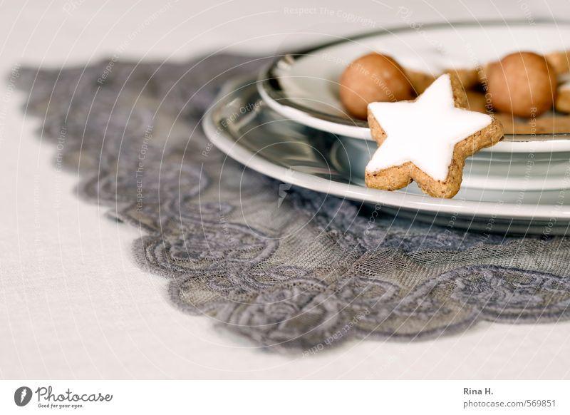 WeihnachtsGebäck Teigwaren Backwaren Süßwaren Ernährung Geschirr Teller Feste & Feiern Weihnachten & Advent lecker süß Vorfreude genießen Spitze Decke Zimtstern