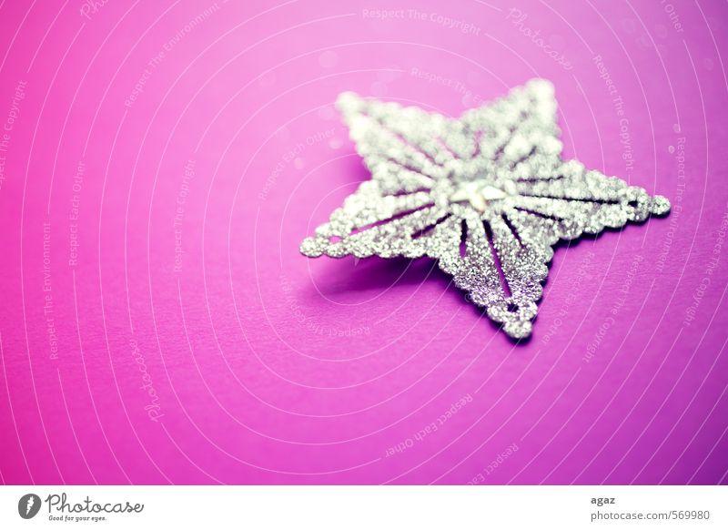 Star auf Pink Papier Dekoration & Verzierung star Gold Zeichen Gefühle Stimmung Farbfoto mehrfarbig Detailaufnahme Makroaufnahme Menschenleer Textfreiraum links