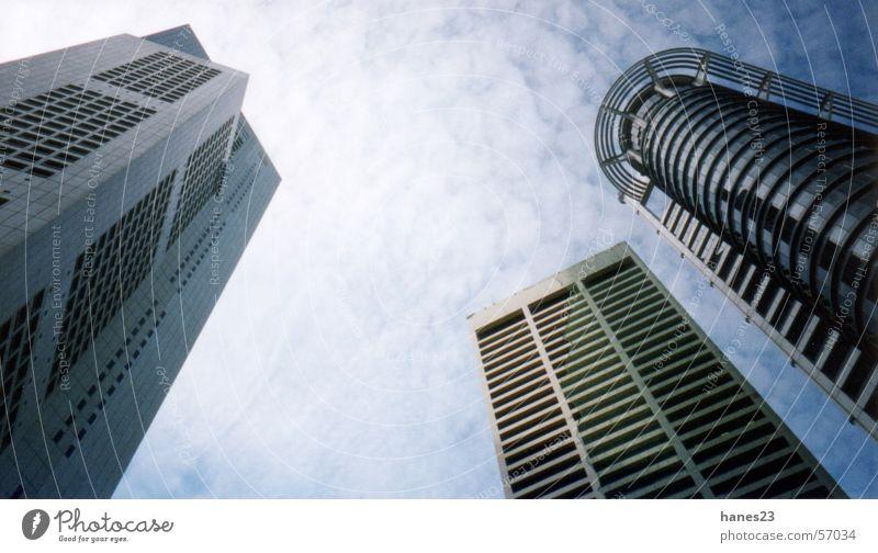 Singapur Downtown Singapore Stadtzentrum Hochhaus Business District Thailand Asien Bankenviertel Himmel boomtown