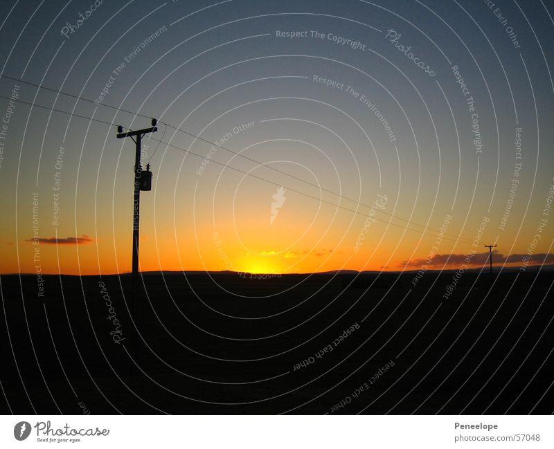 sunset Natur Himmel Sonne Wolken Horizont Elektrizität Kabel Island