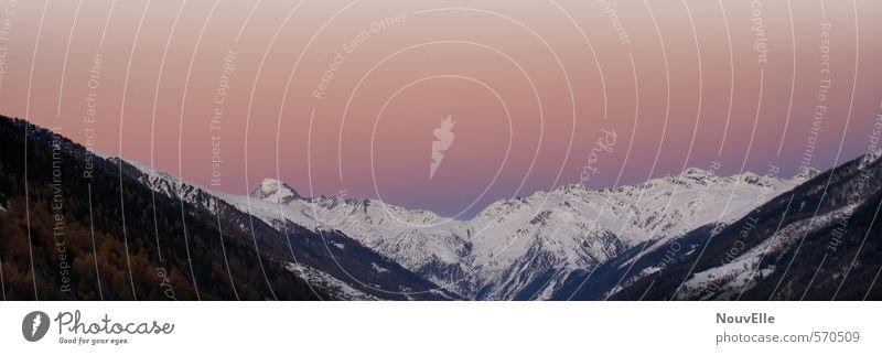 And Wine. Natur Landschaft Sonnenaufgang Sonnenuntergang Alpen Berge u. Gebirge Gipfel Schneebedeckte Gipfel frisch Gesundheit Zusammensein natürlich oben