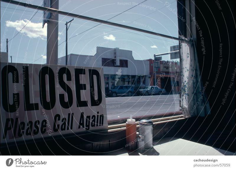 yes we're open Schilder & Markierungen trist Pause offen Aussicht Amerika Festessen unterwegs
