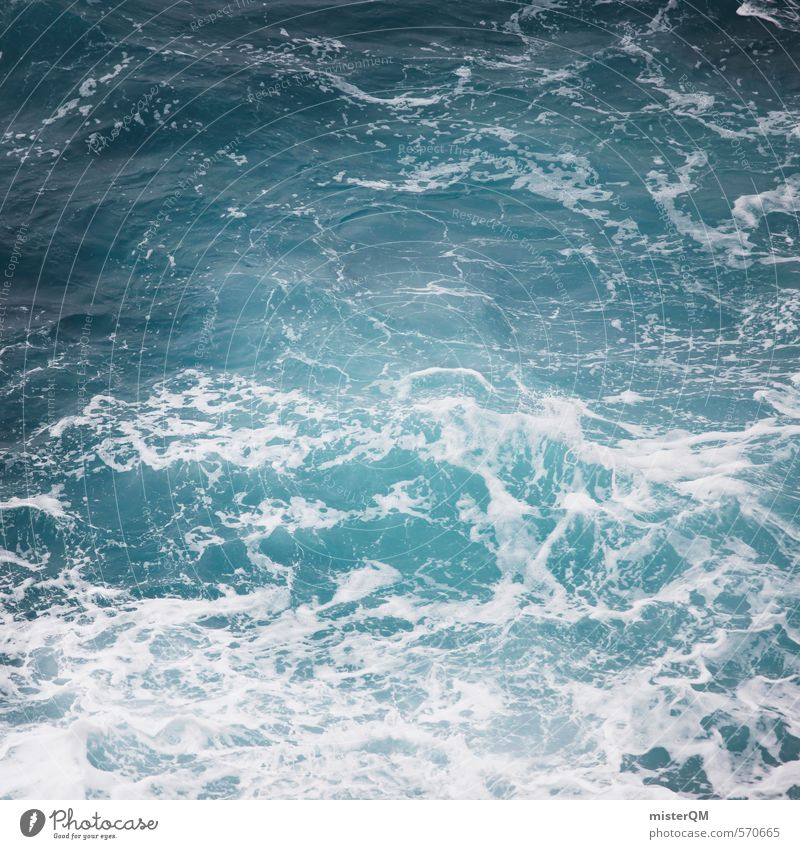 I.love.FV X Kunst ästhetisch Zufriedenheit Meer Meerwasser Meerstraße Meeresspiegel Wellen Wellengang Wellenform Wellenbruch blau Ferien & Urlaub & Reisen Küste