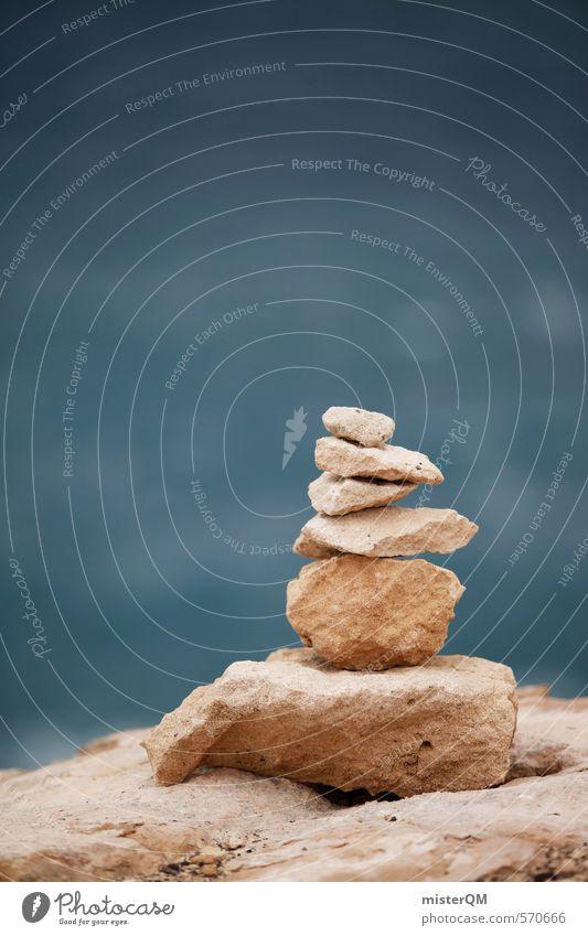 I.love.FV IX Kunst ästhetisch Zufriedenheit Natur Steinhaufen Freiheit Wellness Erholung Turm Konzentration Spanien Fuerteventura Meer Küste Symmetrie