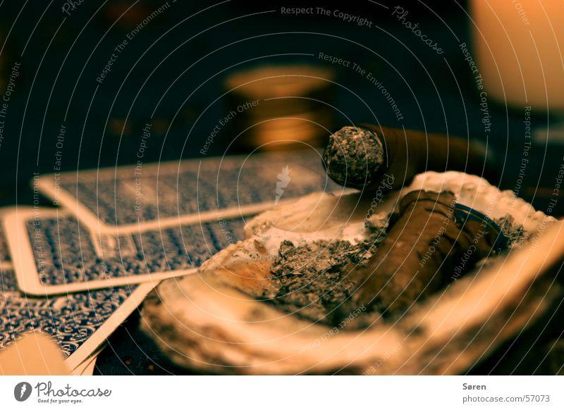 Have a cigar Zigarre Poker Aschenbecher Rauch Glücksspiel Kartenspiel Rauchen Brandasche