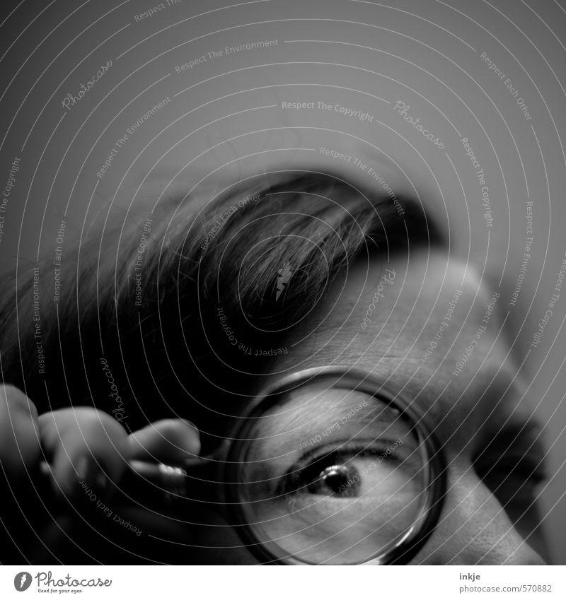 National Security Agency (analog) Mensch Frau dunkel Gesicht Erwachsene Auge Leben Freizeit & Hobby Lifestyle groß beobachten lernen Studium Neugier Bildung nah