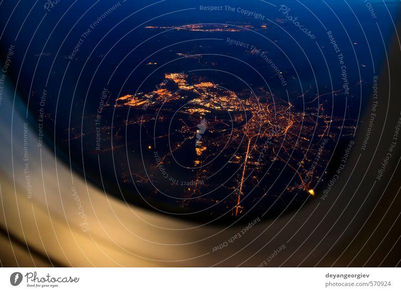 Himmel Ferien & Urlaub & Reisen blau Stadt weiß Wolken dunkel hell Luft Business Verkehr Tourismus Luftverkehr Geschwindigkeit Flugzeug Aussicht