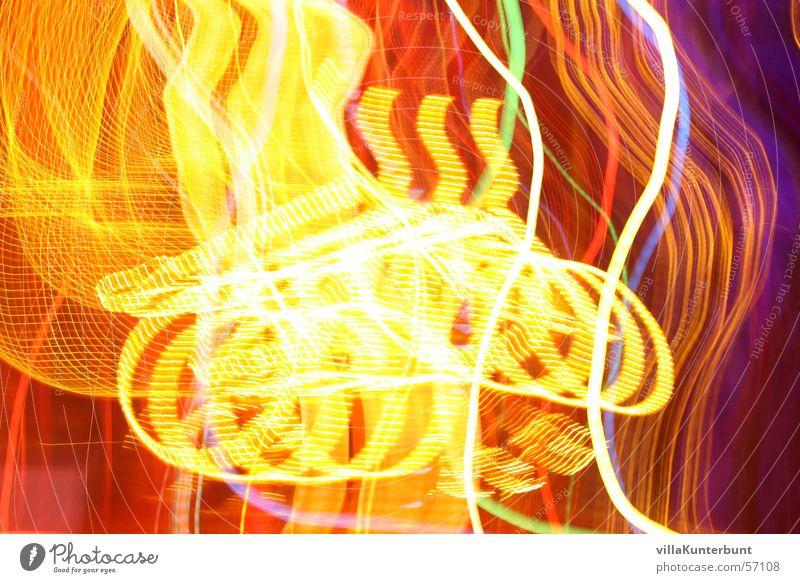 Fahrradwirbel gelb Farbe hell Lichtspiel Verwirbelung Lichterkette