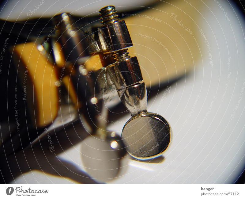 Mund auf, Augen zu Holz Musik Musikinstrument Schraube beige Saxophon Blasinstrumente