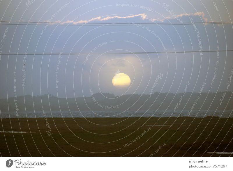 my man no moon Ferien & Urlaub & Reisen Tourismus Ausflug Abenteuer Ferne Freiheit Meer Insel Wellen Umwelt Natur Landschaft Himmel Wolken Sonne Sonnenaufgang